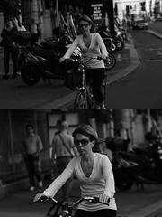[La Mia Citt][Pedala] (Urca) Tags: milano italia 2016 bicicletta pedalare ciclista ritrattostradale portrait dittico nikondigitale mir bike bicycle biancoenero blackandwhite bn bw 89587