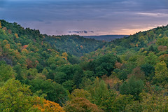 Treman State Park Sunrise (agladshtein) Tags: colors sony2470mmf28g cny landscape season nature newyork fall ny trees centralnewyork tompkinscounty tremanstatepark waterfall gorges forest scenic sonya7r2 outdoors luciferfalls traveldestination beautyinnature hiking ithaca sunrise dawn clouds sky