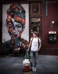 @oliver_wiksater in Soho on his way home. (Robban.W) Tags: nikon d800 2470 us usa newyork manhattan soho newyorkmodels street firepost atm
