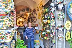 Shopping in Orvieto (stevelamb007) Tags: italy umbria orvieto shopping shop ceramics stevelamb nikon d90 tokina 1116mmf28 karinlamb franbukrey