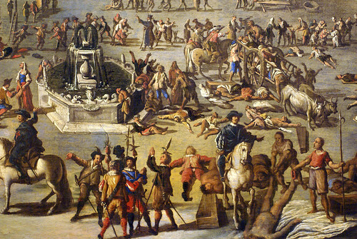 Carlo Coppola, Piazza Mercato während der Pest von 1656 (Piazza Mercato during the plague of 1656) Detail