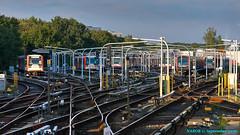 "Hamburg, Germany: Farmsen rail storage yard - ""Swimmers take your mark . . . "" (nabobswims) Tags: de deutschland elevated hdr hamburg highdynamicrange hochbahn libertyisland lightroom metro nabob nabobswims photomatix railstorageyard sonya6000 station subway u1 ubahn germany"
