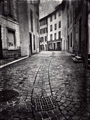 Building Exterior Cobblestone Architecture Built Structure Cobbled Outdoors No People City The Way Forward Day Black And White France AX-LES-THERMES Tiles Textures Variation Low Angle View Architecture at Ax-les-Thermes (Cesc Camí) Tags: buildingexterior cobblestone architecture builtstructure cobbled outdoors nopeople city thewayforward day blackandwhite france axlesthermes tilestextures variation lowangleview