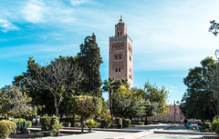 The Koutoubia Mosque Marrakesh (The Sergeant AGS (A city guy)) Tags: mosque marrakech architecture art garden walking walkways blue skies travelformyjob travelling street threedays