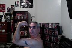 FLU SHOT FLEX Selfie. (Jonathan C. Aguirre) Tags: flushots arms muscles injections vaccinations biceps flexing guns needles nurses shots ashotinthearm armfetish bigmuscles photobooth