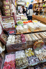 Sweets in the Jerusalem suk (davidthegray) Tags: sugar street sweets shop israel arabic jerusalem arab suk
