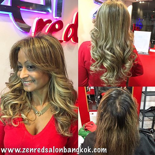 Get the celebrity look & celebrity treatment at Zenred Salon Bangkok. We specialize in the Hollywood red carpet look. For gorgeous highlights or balayage, the latest & greatest organic QOD keratin treatments or luxury grade A hair extensions. We have been