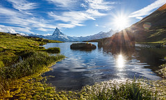 Stellisee (cfaobam) Tags: alpen berge bergsee european larch fall gebirge herbst lac lake landschaft matterhorn see stellisee zermatt alpes arbres automne montagne mountains neige schnee snow alps berg schweiz wasser stein stone landscape europe europa nature national geographic cfaobam water travel photography magic light rock steine felsen outdoor felsformation