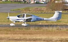 N215DS (goweravig) Tags: n215ds visiting aircraft da40 diamondstar swansea wales uk swanseaairport