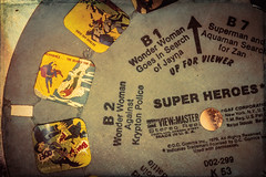 Superman got nothing on me.... (trs125) Tags: superheroes viewmaster 1979 vintage toys abandoned adventures