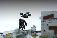 Black friday? No! Black Drones! (Devid VII) Tags: black friday drones devid vii devidvii mecha mech drone lego moc military war troopers crew wars trooper detail details mini rebel district soldier diorama street