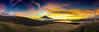 Sunsets Fuji Panorama (shinichiro*@OSAKA) Tags: 南都留郡 山梨県 日本 jp 20161009img5339 2016 crazyshin appleiphone6plus iphone fuji lakeyamanaka 富士 山中湖 雨上がりの夕方 yamanashi japan 夕景 panorama パノラマ・モード