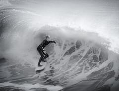 Off Shore (Steve Corey) Tags: surf centralcoastsurf cayucospier blackandwhite action sport stevecorey ocean waves surfing