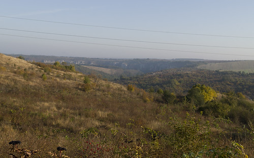 View to the valley of Rusenski Lom River, 12.10.2014.