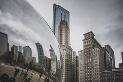 Time to tourist (_soliveyourlife_) Tags: chicago sony sonyimages city cityscape moody reflection thebean milenniumpark