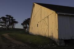 Sunlit Pierce Ranch Barn (dcnelson1898) Tags: ptreyesnationalseashore ptreyes marincounty california coast northerncalifornia nationalpark nationalparkservice nps federal pierceranch dairy farming sunset pacificocean longexposure beach ocean sea water outdoors