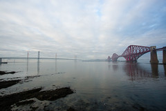 Forth Bridges (JGMarshall Photography) Tags: scotland firthofforth forth river firth edinburgh bridge roadbridge railbridge architecture engineering landscape joemarshall jgmarshall canon 5d red