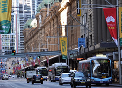 George Street, 9.45 am Sunday Morning (john cowper) Tags: sydney newsouthwales georgestreet queenvictoriabuilding