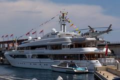 Lady Marina (oyvind-nilsen) Tags: riviera ship yacht rich montecarlo monaco helicopter heli bout helideck ladymarina