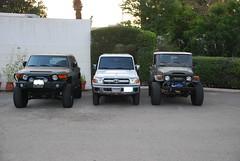 FJ45 vs FJCruiser vs LC79 doublecab. (shine_on) Tags: auto car truck desert 4x4 dunes wheels tires filter saudi arabia toyota dakar jeddah suv 35 fj landcruiser saudiarabia arb headers atx lifted fj45 oldmanemu fjcruiser fabtech doublecab dirtlogic superwinch procomp difflock lc79 at2s 488gears