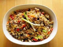 photogenic quinoa (Sakurako Kitsa) Tags: red black cold recipe pepper vegan beans corn bell onions vegetarian quinoa salads protein