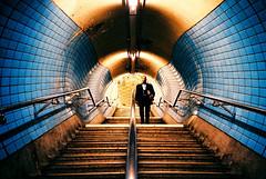 -Embankment Station (Hodaka Yamamoto) Tags: london station stairs lomo lca lomography unitedkingdom tunnel lomolca velvia fotobes hodachrome