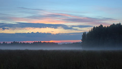 misty tomorrow (Sergey S Ponomarev) Tags: sunset summer sky mist nature grass fog clouds canon landscape haze russia outdoor hdr 600d vyatka sergeyponomarev mygearandme