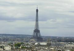 Paris from the saint Jaque tower top (mathieustern) Tags: city travel paris france tower lens french sony eiffeltower eiffel ville parisian nex taveling manuallens teleobjectif nex5r