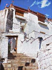 P1020654 Up to the heavens. Basgo. Ladakh.  PS  (peteshep) Tags: india architecture ps unesco ladakh basgo peteshep copyrightphoto fz200 bazgoo chambalhakhangtemple