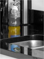 No Added Sugar (AshTree25) Tags: reflections sink robinsons reflectivesurfaces selectivecolouring orangesquash shinysurfaces colourpopping noaddedsugar brokenreflections mysonskitchen cometothatmysonsorangesquash