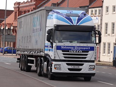 Nelsons Transport Ltd. Iveco Stralis YJ08 GZM (PFB Trucking Photography) Tags: street castle transport nelsons hull ltd iveco stralis yj08gzm