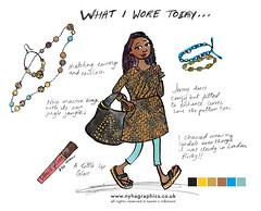 What I Wore Today Tuesday (Hi Ni) Tags: selfportrait fashion illustration sketch blog drawing illustrator whatiworetoday whatiwore visualdiary wiwt nyhagraphics