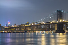 Manhattan Bridge - NYC (russ925) Tags: nyc newyorkcity ny manhattanbridge empirestatebuilding
