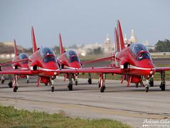 Royal Air Force --- Red Arrows --- British Aerospace Hawk T1A (Drinu C) Tags: plane aircraft military sony airshow dsc redarrows raf mla royalairforce lmml maltainternationalairshow hx100v adrianciliaphotography