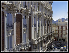 Gran Hotel a vista de pjaro (jarm - Cartagena) Tags: espaa spain espagne cartagena modernismo modernista granhotel regindemurcia jarm
