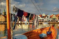 Stavanger, Norway (nebulous 1) Tags: reflection water norway architecture sailboat boats harbor stavanger clothing nikon clothes wash closeline d7000 nebulous1 mygearandme mygearandmepremium