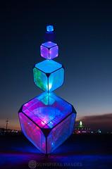 cubism (Sun Spiral) Tags: light usa art love festival fire crazy desert nevada burningman burn burners cargocult nikond90