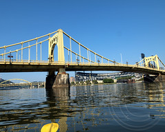 BRIDGE K881: Roberto Clemente Bridge over the Allegheny River, Pittsburgh, Pennsylvania (jag9889) Tags: bridge river pittsburgh crossing suspension baseball pennsylvania pirates player pa kayaking parallel paddling pncpark waterway roadway robertoclemente pittsburghpirates 1926 alleghenyriver penndot sixthstreetbridge threesistersbridges robertoclementebridge alleghenycounty 2013 selfanchored jag9889 k881