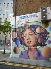 Whitby Street Woman (redpopcreative) Tags: portrait woman streetart london wall graffiti paint urbanart e1 wallmural londongraffiti whitbystreet streetartgirls