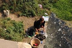 Laundry time (D70) Tags: china woman rural village time near xian laundry exit nan washing suo huxian nansuo