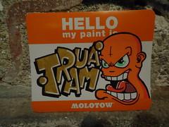 hello my name is orange (.Trauma .) Tags: hello orange portugal graffiti is name stickers trade trauma t2 troca autocolantes