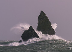 Church Rock Storm (marcusbentus) Tags: storm haven beach church st rock wales lumix waves head gale panasonic 300 broad pembrokeshire broadhaven govans stgovanshead churchrock gx1 300100