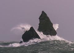 Church Rock Storm (marcusbentus) Tags: storm haven beach church st rock wales lumix waves head gale pa