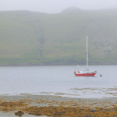 Luna (Non Paratus) Tags: uk skye fog scotland boat isleofskye innerhebrides kelp inlet loch lochharport innerisles
