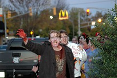 HI MOM, send more money! (kennethkonica) Tags: costumes people usa men halloween america blood lowlight hands nikon midwest zombie indianapolis indiana nikond70s mcdonalds gore males zombies hoosiers zombiewalk broadripplezombiewalk