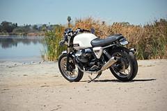 ms6 (violetnites) Tags: white classic bike vintage cafe style retro clip moto motorcycle modified arrow ons exhaust racer modded v7 guzzi inghostcolours tiltmode43 arrowbros4lyfe violetnites