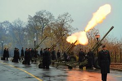 Salute on Remembrance Day (beyondhue) Tags: november snow canada canon soldier army fire gun day peace ottawa hill salute ceremony royal parliament 11 canadian poppy artillery tribute remembrance veterans peacekeepers howitzer 2013 beyondhue