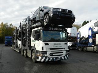 WX55CVG  Stobart Automotive Scania P420 Car Transporter