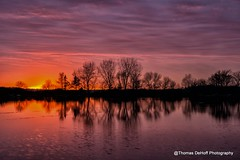 Iowa Sunset 11-10-13 (Thomas DeHoff) Tags: sunset sony iowa a580