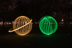 Yellow and green (Duncan WJ Palmer) Tags: uk longexposure november light england london painting lights long exposure with orb paintingwithlight orbs 2013